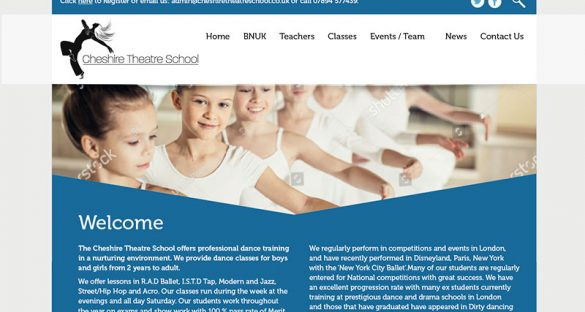 Cheshire Theatre School website