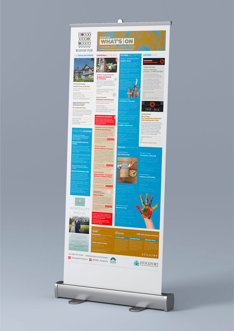 Bramall Hall pull-up banner