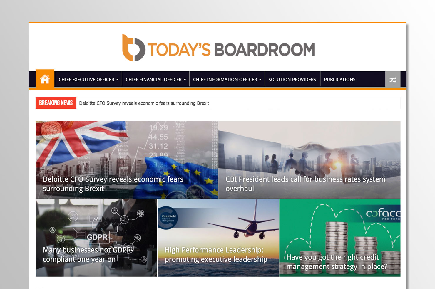 Today's Boardroom Website